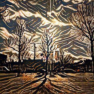 Digital Painted Diemen (2020-2) van OFOTO RAY van Schaffelaar