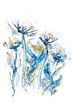 Blaue Blumen von Christa Kerbusch