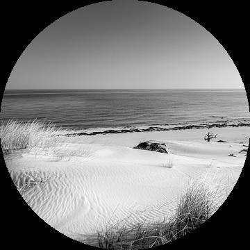 Duinen en de zee in zwart-wit van Sascha Kilmer