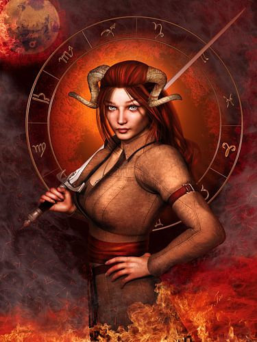 Aries Zodiac sign van