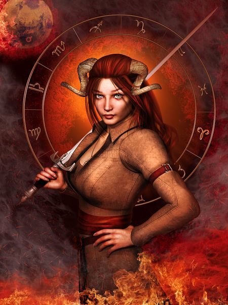 Aries Zodiac sign van Britta Glodde