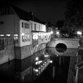 Het Diezehuys aan de Oude Dieze Den Bosch in zwart/ wit sur Jasper van de Gein Photography