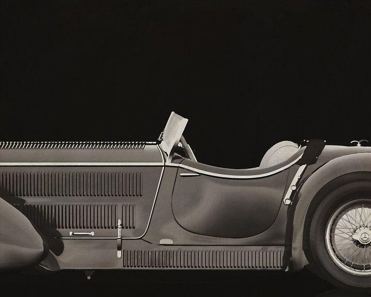 Mercedes - Benz SSK710 1930 B&W van Jan Keteleer