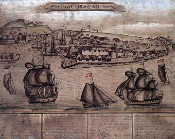 Curacao, eine Karte aus der Zeit um 1800 von Atelier Liesjes