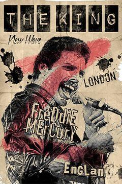Freddie Mercury old vintage look van Bert Hooijer