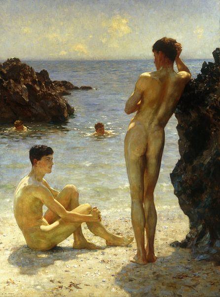 Die Liebhaber der Sonne, Henry Scott Tuke von Bridgeman Masters