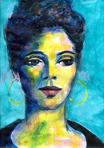 Blaues Porträt