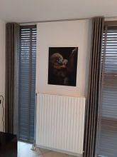 Klantfoto: Jong Mandril kijkt je recht aan van Patrick van Bakkum, op aluminium