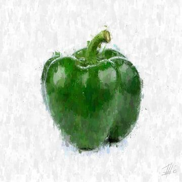 Grüne Paprika von Theodor Decker
