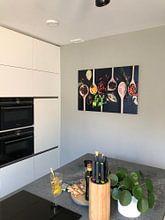 Klantfoto: Pollepels kruiden, herbs on wooden spoons van Corrine Ponsen, op staal