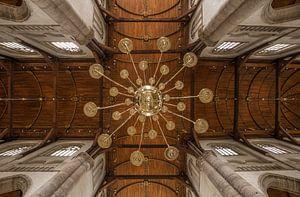 Het plafond van de Laurenskerk in Rotterdam