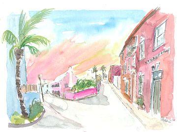 Sonnige Bermuda-Straßenszene in St. George's von Markus Bleichner