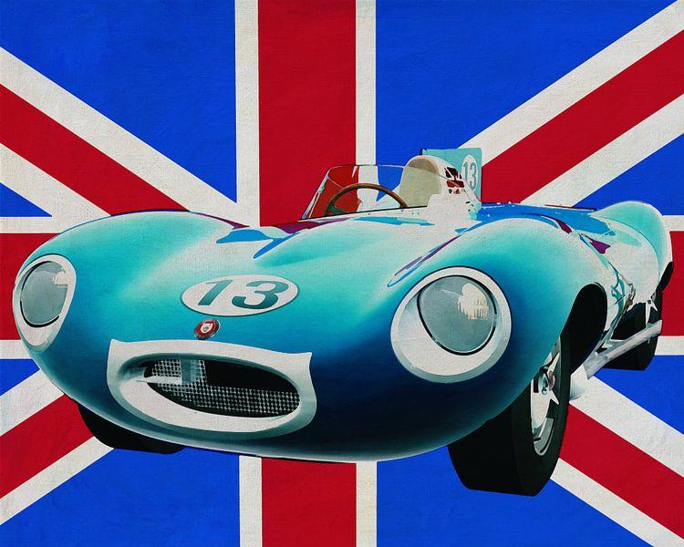 Jaguar Type D voor de Union Jack van Jan Keteleer