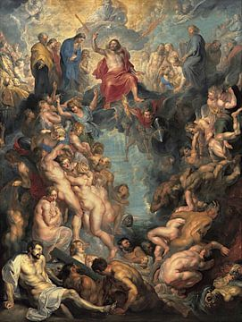 Peter Paul Rubens, Het laatste oordeel - 1617 van Atelier Liesjes