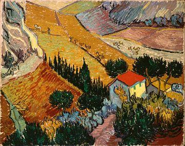 Paysage avec House et Ploughman, Vincent van Gogh sur