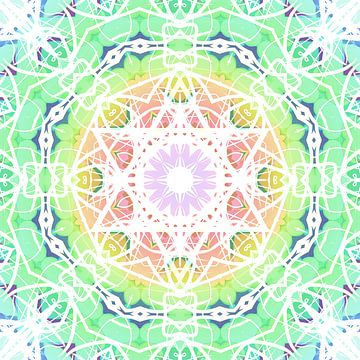 Mandala lichtgroen van Maik Berning