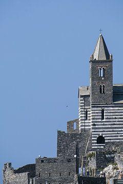 Sint-Pieterskerk (Chiesa di San Pietro) tegen de helderblauwe hemel met grote kopieerruimte, beroemd van Maren Winter