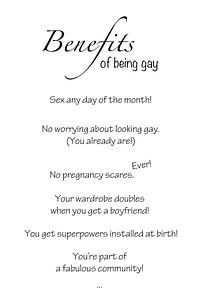 Benefits of being gay von AJ Publications