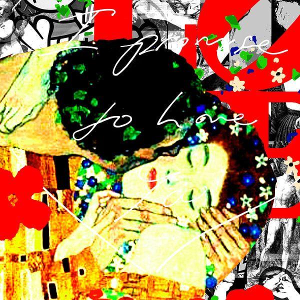 Famous Love Couples - The Kiss van Jole Art (Annejole Jacobs - de Jongh)