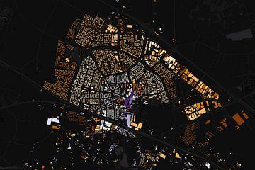 Kaart van Zevenaar abstract von Stef Verdonk
