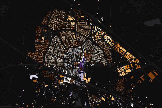 Kaart van Zevenaar abstract van Stef Verdonk