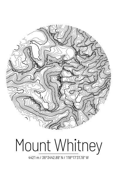 Le Mont Whitney | Topographie de la carte (Minimal) sur ViaMapia