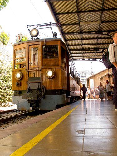 houten trein van