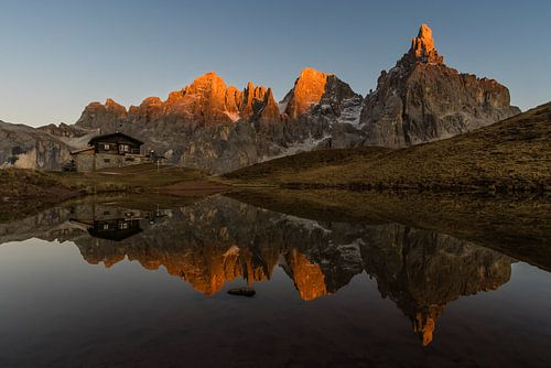 Laatste Zonlicht op de Bergen - Dolomieten, Italië