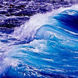 Blaue Welle von Max Steinwald