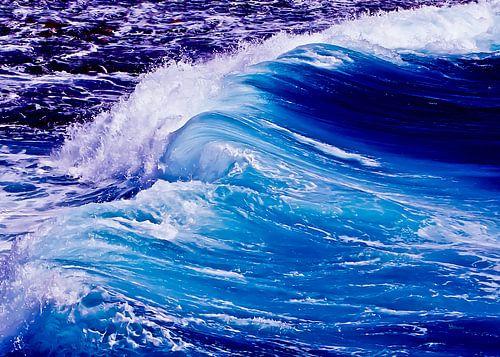 Blaue Welle von