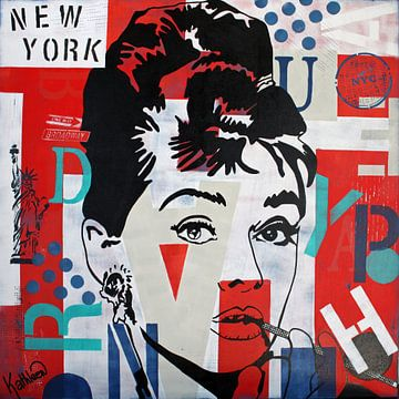 Audrey Hepburn NYC von Kathleen Artist Fine Art