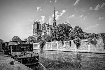 PARIJS, Kathedraal van Notre-Dame | zwart-wit van Melanie Viola