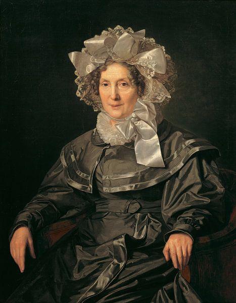De moeder van de kunstenaar, Ferdinand Waldmüller - 1830 van Het Archief