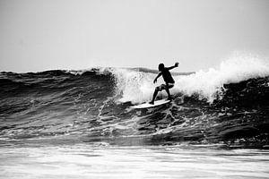 Surfer Silhouet, Arugambay, Sri Lanka van
