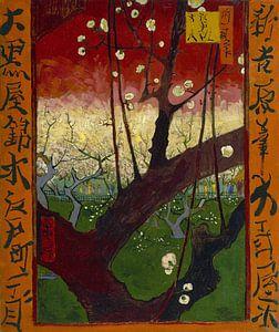 Vincent van Gogh. Bloeiende pruimenboomgaard- naar Hiroshige 1887