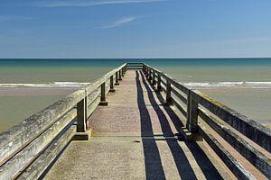 Pier aan de kust van Normandië (Omaha Beach)