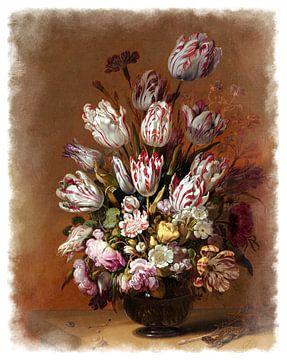 Oude Meesters serie #3 - Stilleven met bloemen, Hans Bollongier