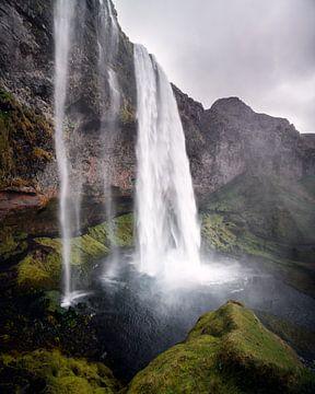 Seljalandsfoss waterval, IJsland van Harmen van der Vaart