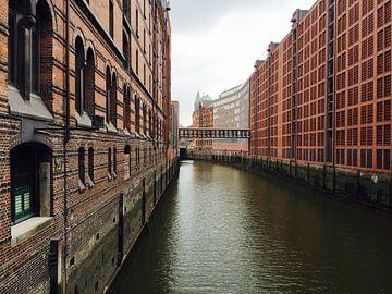 Hamburg Duitsland - Speicherstadt van Isabelle Val