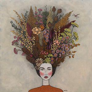 Blumen in meinen Gedanken (nr.2021-05) von Kris Stuurop