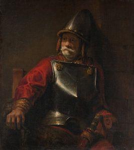 Man in Armor (Mars?), De stijl van Rembrandt