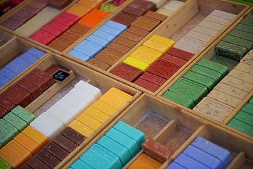 Geurige en kleurige zeep van Reinier van de Pol