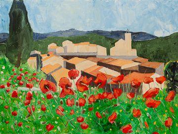 Sommer in Flayosc Provence Frankreich von Antonie van Gelder Beeldend kunstenaar
