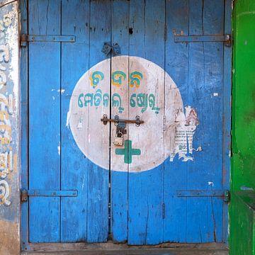blauwe deur van Affect Fotografie
