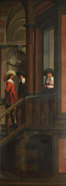 Siebenteilige Sequenz: Eine Außentreppe, Dirck van Delen von Meesterlijcke Meesters