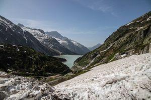 Grimselsee, Grimselpass. Zwitserland van Sasja van der Grinten
