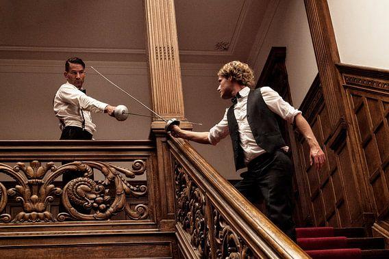 15 - Fencing Schermen in het trappenhuis van Irene Hoekstra