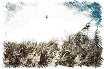 Nederlands landschap, schilderij van Wendy Tellier - Vastenhouw