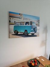 Kundenfoto: VW-Bus an der Algarve von Victor van Dijk, auf leinwand