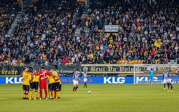 Roda JC en de fans maken zich op voor de wedstrijd van Martijn Mureau